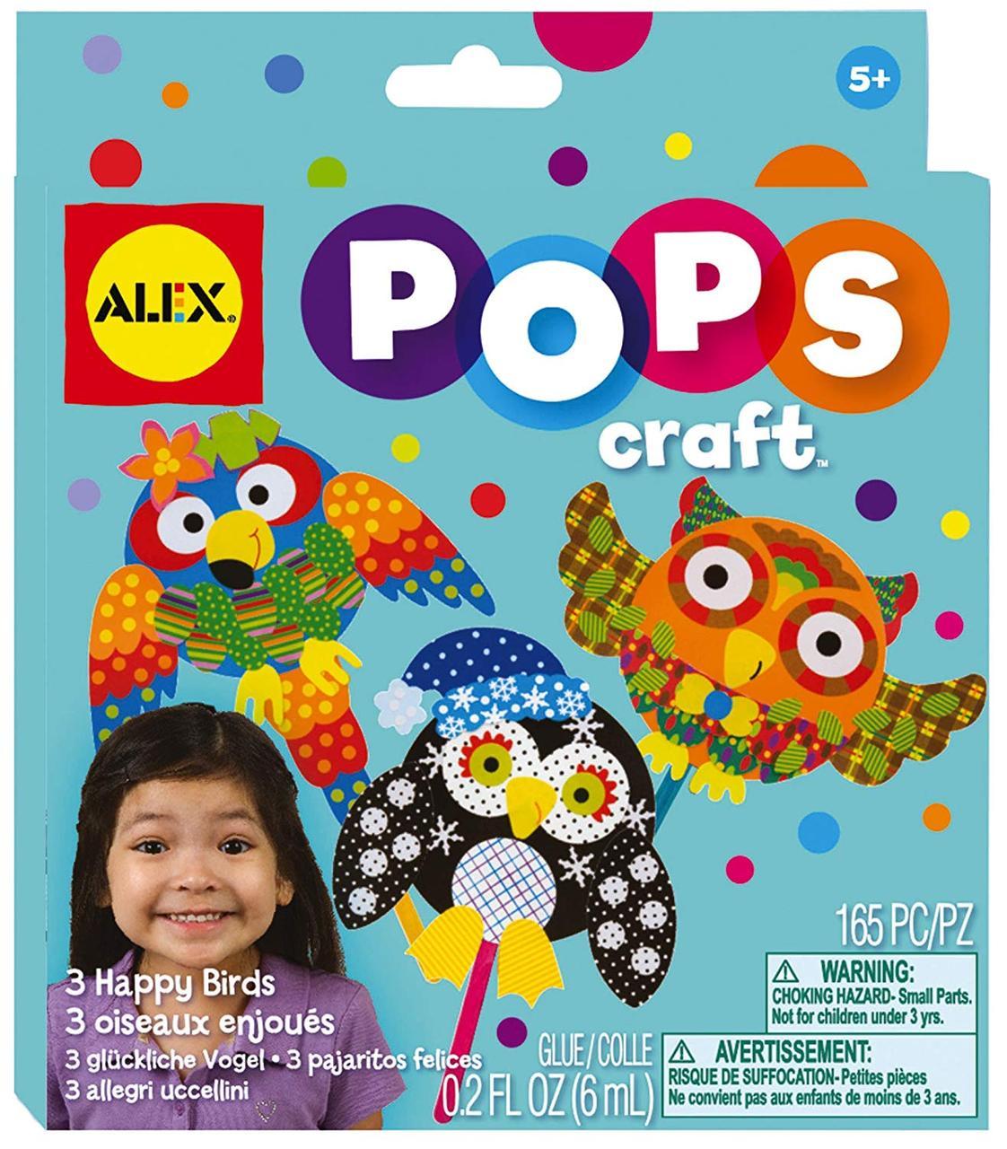 Alex Toys Pops Набор для творчества 3 веселые птички скраббукинг 1196 Craft 3 Happy Birds