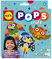 Alex Toys Pops Набор для творчества 3 веселые птички скраббукинг 1196 Craft 3 Happy Birds, фото 1