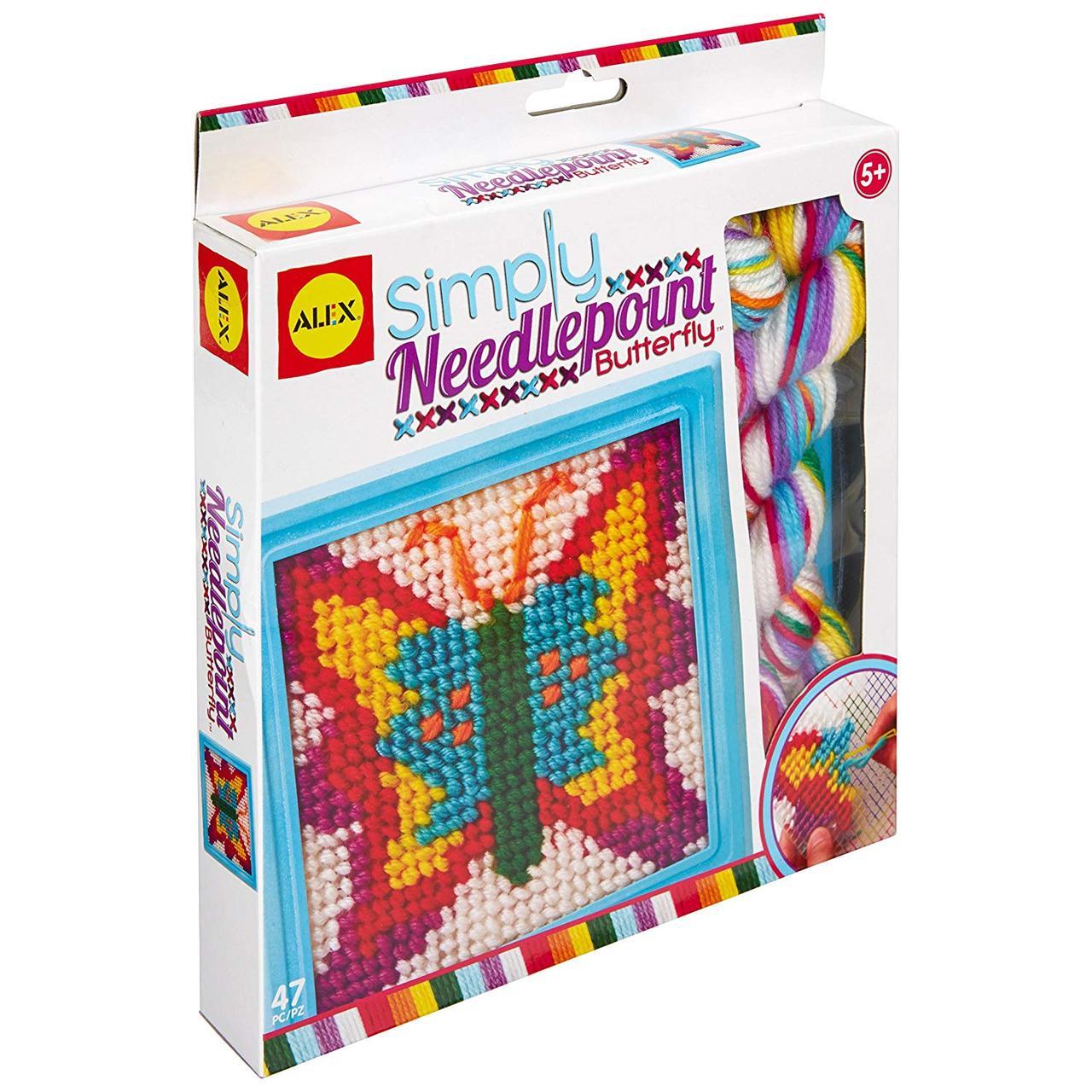 Alex Toys Набор для вышивания крестиком бабочки 395BN Craft Simply Needlepoint Butterfly