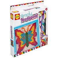 Alex Toys Набор для вышивания крестиком бабочки 395BN Craft Simply Needlepoint Butterfly, фото 1