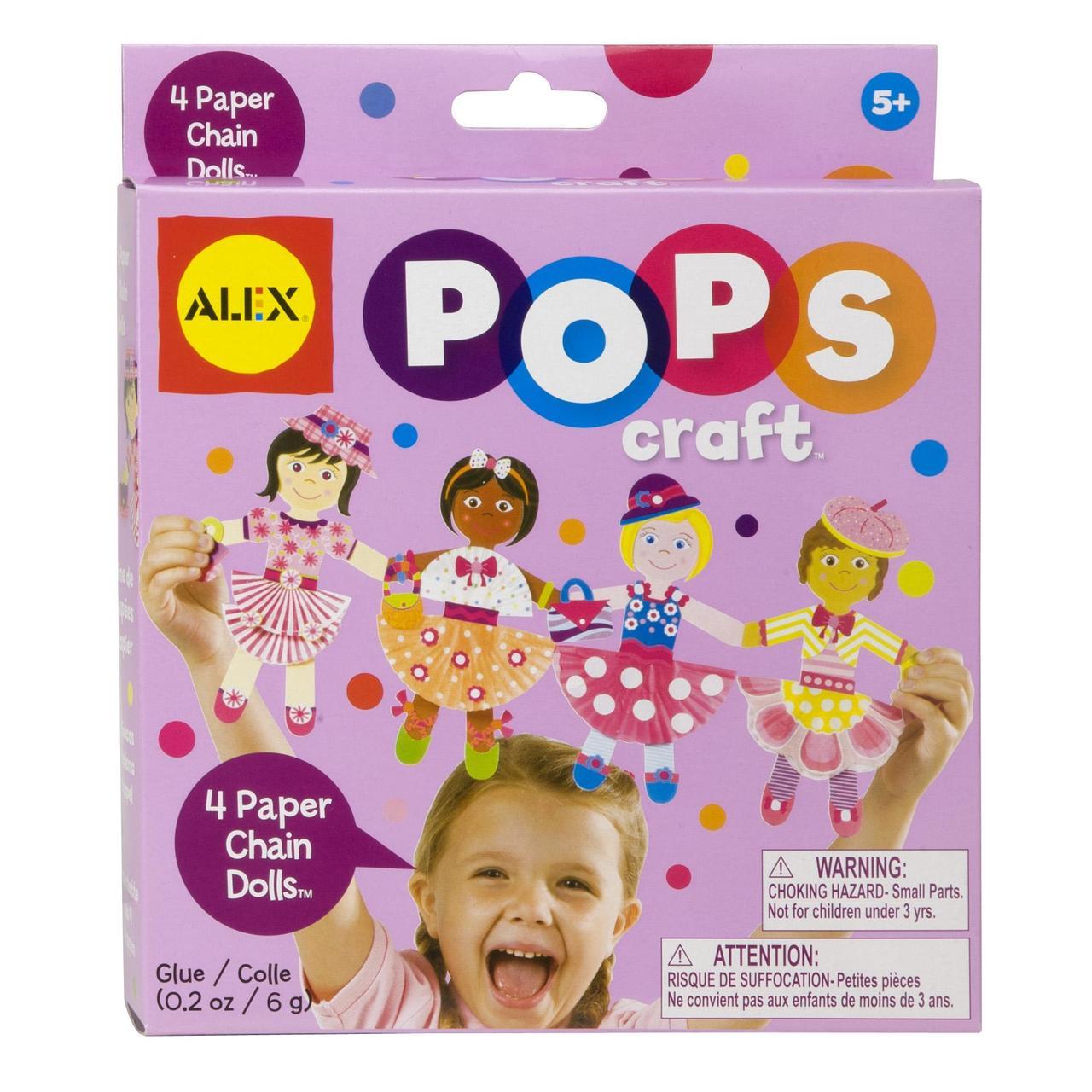 Alex Toys Pops Набор для творчества принцессы 1196 Craft 4 Paper Chain Dolls