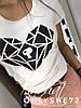 Женская модная футболка с рисунком