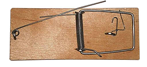Родентицид Мышеловка деревянная плоская