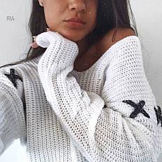Женский свитер со шнуровкой , фото 2