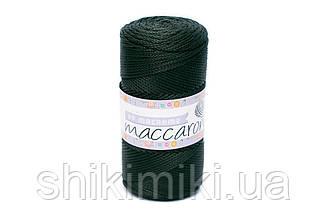 Трикотажный полиэфирный шнур PP Macrame,цвет Темно-зеленый