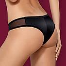 Женские трусы кружевные черные 868 Obsessive, фото 2