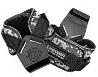 Крюки для тяги на запястья Power System Hooks Camo PS-3370 Black-Grey L - 145353