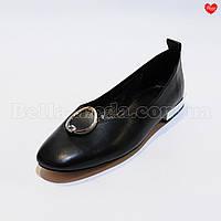 Женские туфли спереди кольцо с камнем