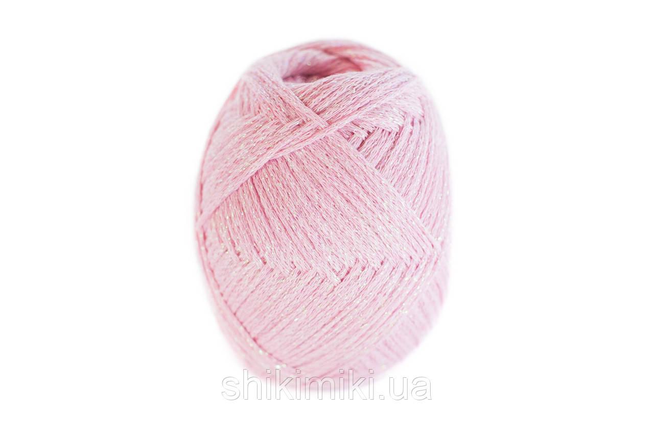 Трикотажный шнур с люрексом Knit & Shine, цвет Розовый