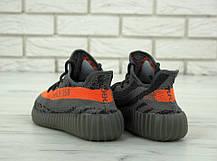 Мужские кроссовки в стиле Adidas Yeezy Boost 350 V2 Grey/Orange (41, 42, 43, 44, 45 размеры), фото 2