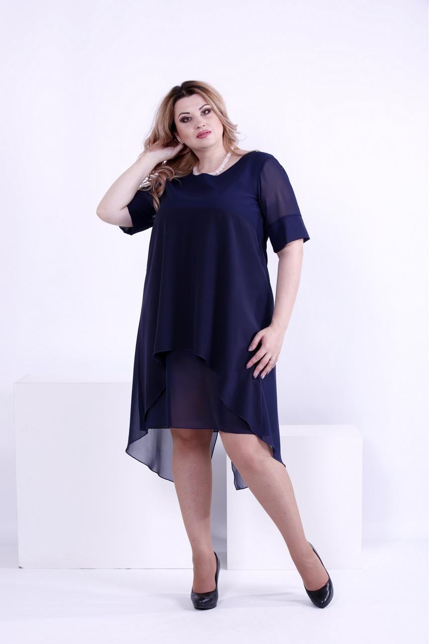 Синє легке плаття | 0860-1