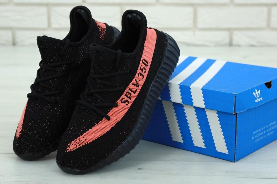 Мужские кроссовки в стиле Adidas Yeezy Boost 350 V2 Black/Pink (41, 42, 43, 44, 45 размеры)