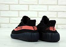 Мужские кроссовки в стиле Adidas Yeezy Boost 350 V2 Black/Pink (41, 42, 43, 44, 45 размеры), фото 2