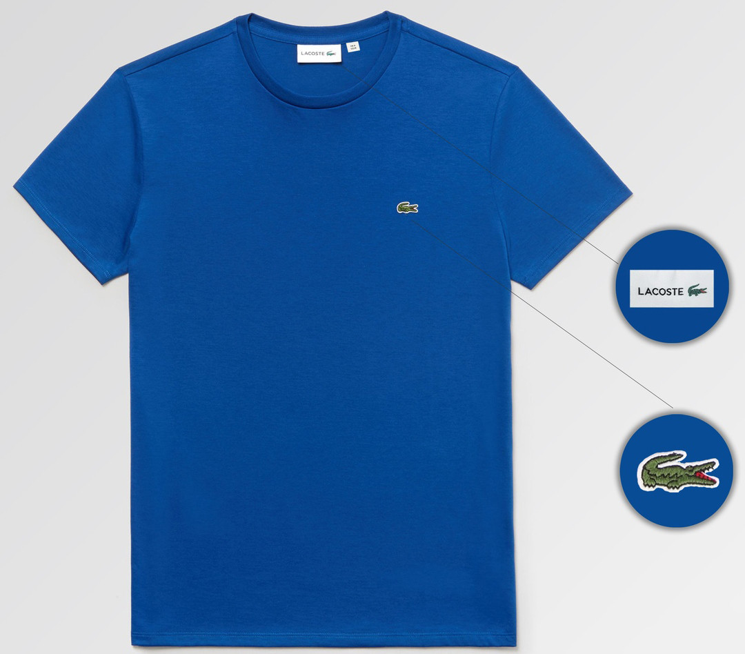 Мужская футболка Lacoste (ориг.бирка) синий