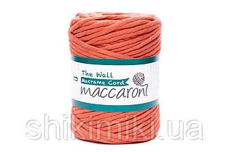 Эко шнур Macrame Cord 5 mm, цвет Оранжевый апельсин