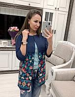 Кардиган женский красивый с модной вышивкой Pvv152, фото 1