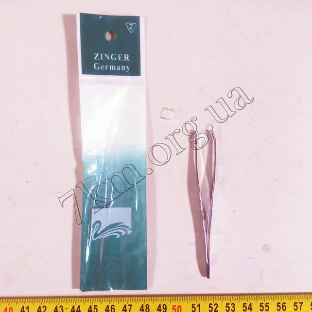 Пинцет косметический для бровей Zinger Т081