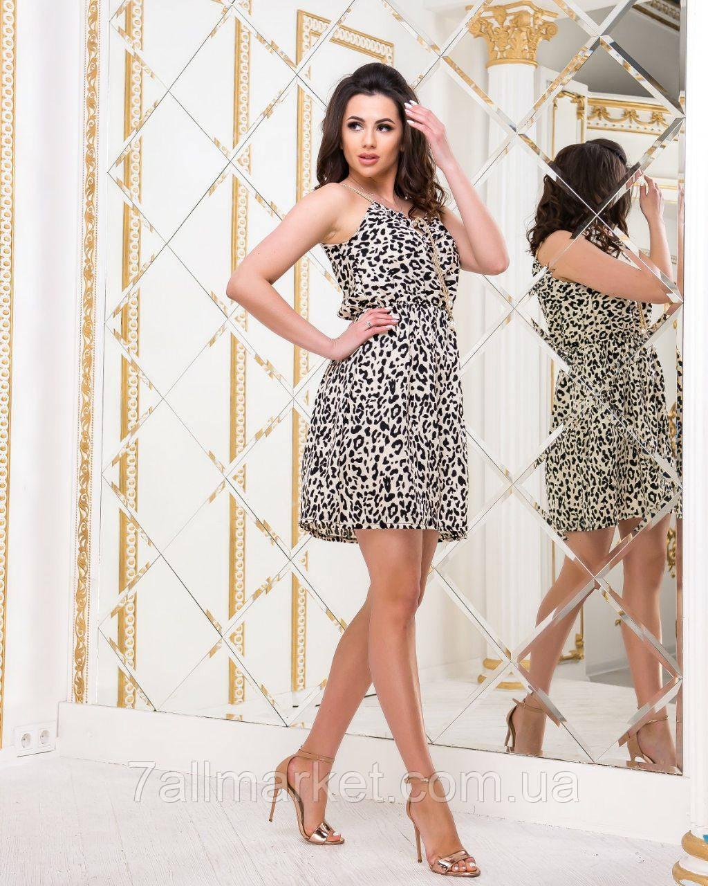 6cf03bafd6f ... Сарафан женский летний с леопардовым принтом