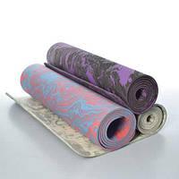 Йогамат, коврик для фитнеса MS 2138 TPE (183см*61см*6мм) 3 цвета