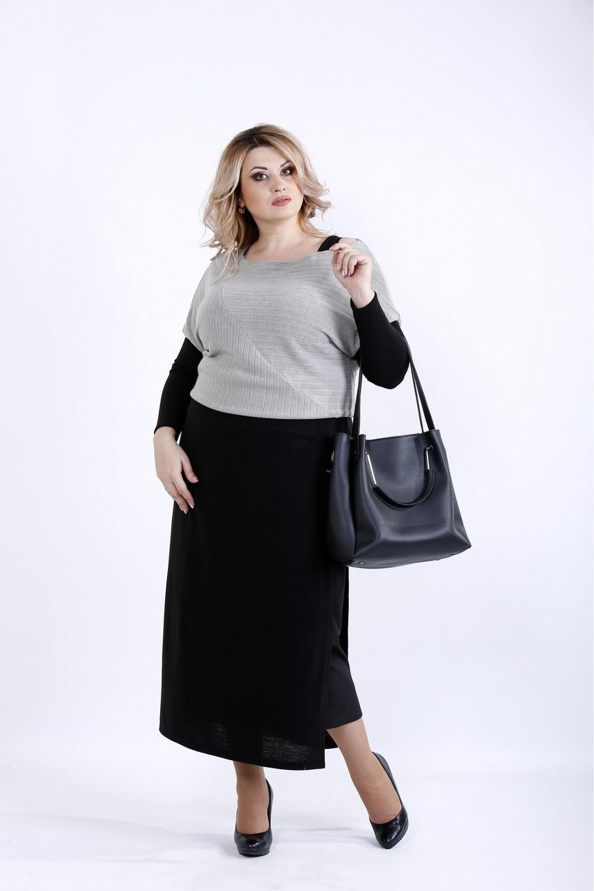 Плаття сірого кольору великого розміру 42-74.