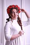 Обруч для волосся Червоні Троянди Великі квіти з фоамирана, фото 3