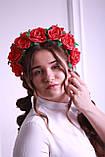 Обруч для волос Красные Розы  Большие цветы из фоамирана, фото 6