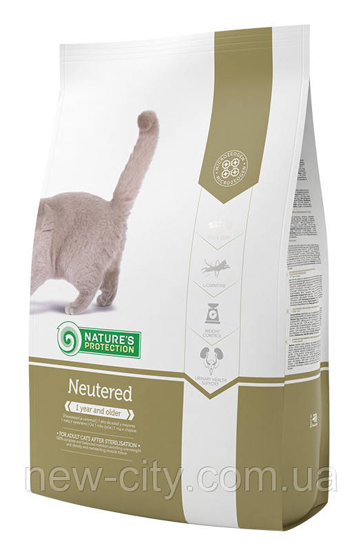 Корм Nature's Protection (Натур Протекшн) Neutered для взрослых стерилизованных кошек, 400 г