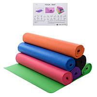 Йогамат коврик для фитнеса и йоги (173см*61см*3мм) MS 1846