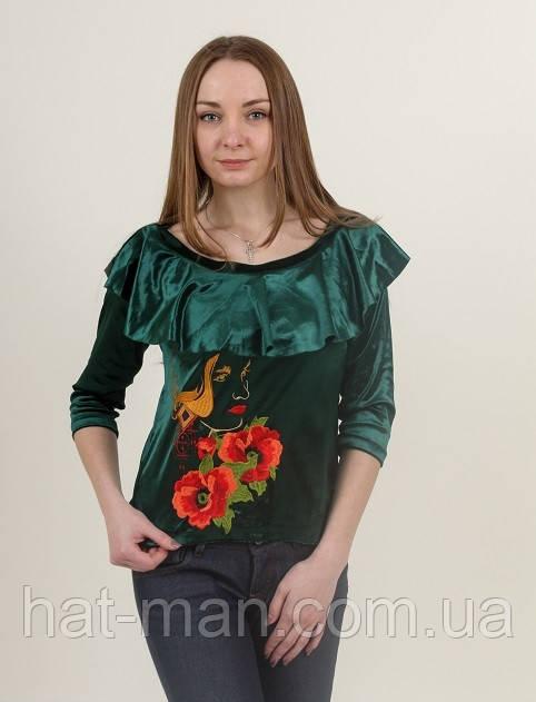 Блузка «Valentine» зелена