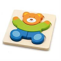 """Міні-пазл Viga Toys """"Ведмідь"""" (50169), фото 1"""