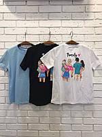 Женская футболка с различными принтами, разные цвета
