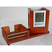 Набор настольный (часы, термометр, календарь) дерево