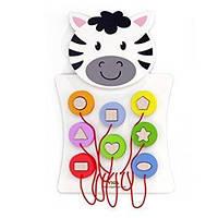 Игрушка настенная Viga Toys зебра с фигурками (50681)