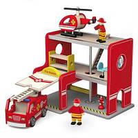 """Ігровий набір Viga Toys """"Пожежна станція"""" (50828), фото 1"""
