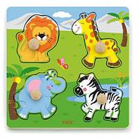 Рамка-вкладыш Viga Toys дикие животные (50840)