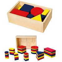 Набір для навчання Viga Toys логічні блоки (56164U)