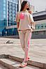 Костюм женский весенний модный с карманом и лампасами Dmil1436