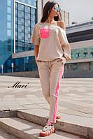 Костюм женский весенний модный с карманом и лампасами Dmil1436, фото 1