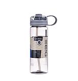 Бутылка спортивная (600 мл) с поилкой и трубочкой, фото 4