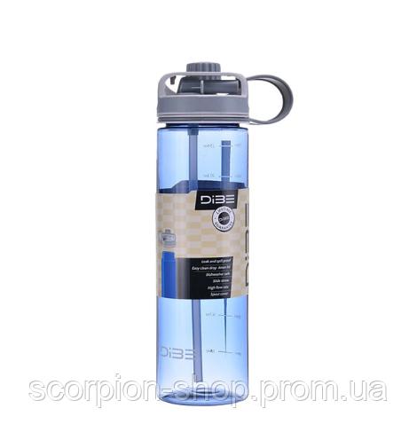 Бутылка спортивная (600 мл) с поилкой и трубочкой