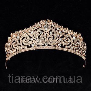 Тиара корона СИНДИ диадема для волос свадебная диадема для волос