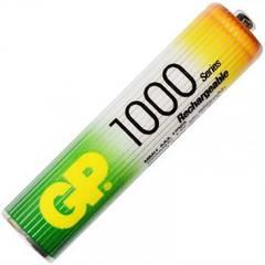 Аккумулятор никель-металлогидридный Ni-MH AAA (R03) GP, 1.2V (1000mAh)