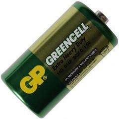 Батарейка солевая C Greencell (14G, R14P) GP 1.5V