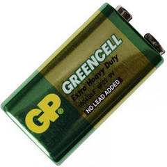 Батарейка солевая КРОНА Greencell (1604GLF, 6F22) GP 9V