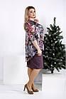 Бісквітне сукню з кольоровим шифоном великого розміру 42-74. 0958-2, фото 3