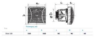 Бытовой вентилятор BLAUBERG Brise 100  (Германия), фото 2