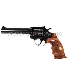 """Револьвер под патрон Флобера, нарезной Alfa 461 (6"""", 4.0мм), ворон-дерево"""