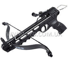 Арбалет пистолетного типа Man Kung 50A2 (длина: 430мм, сила натяжения: 19кг), комплект, алюминий