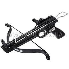 Арбалет пистолетного типа Man Kung 50A1 (длина: 410мм, сила натяжения: 19кг), комплект, пластик