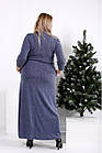 Макси платье, скрывающее фигуру большого размера 42-74. 0964-2, фото 4
